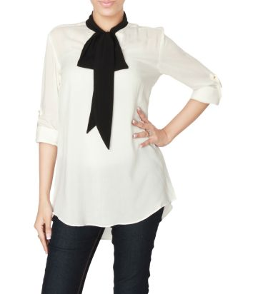 Rumor-White-Malai-Lawn-Party-Shirt-with-Black-Bow-5773-8765-1-product