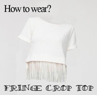 fringe crop top